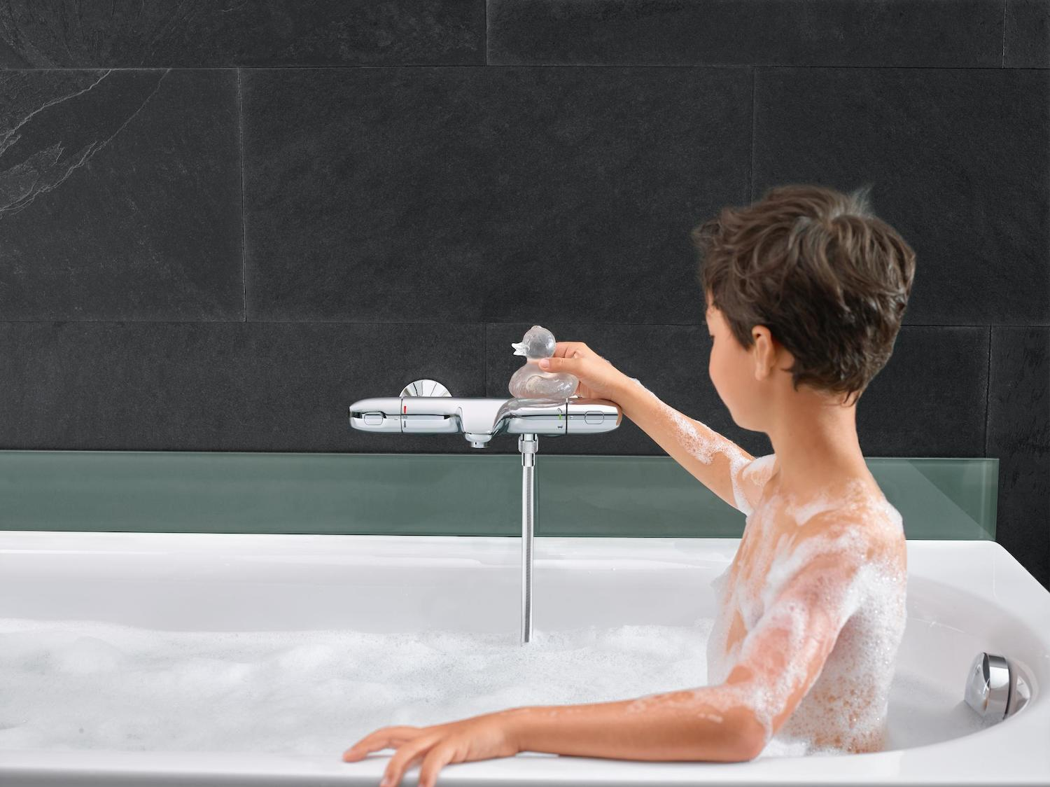 Baterie Grohe cada/dus termostat Grohtherm 1000 New,crom-34155003 imagine 2021 baterii-lux.ro