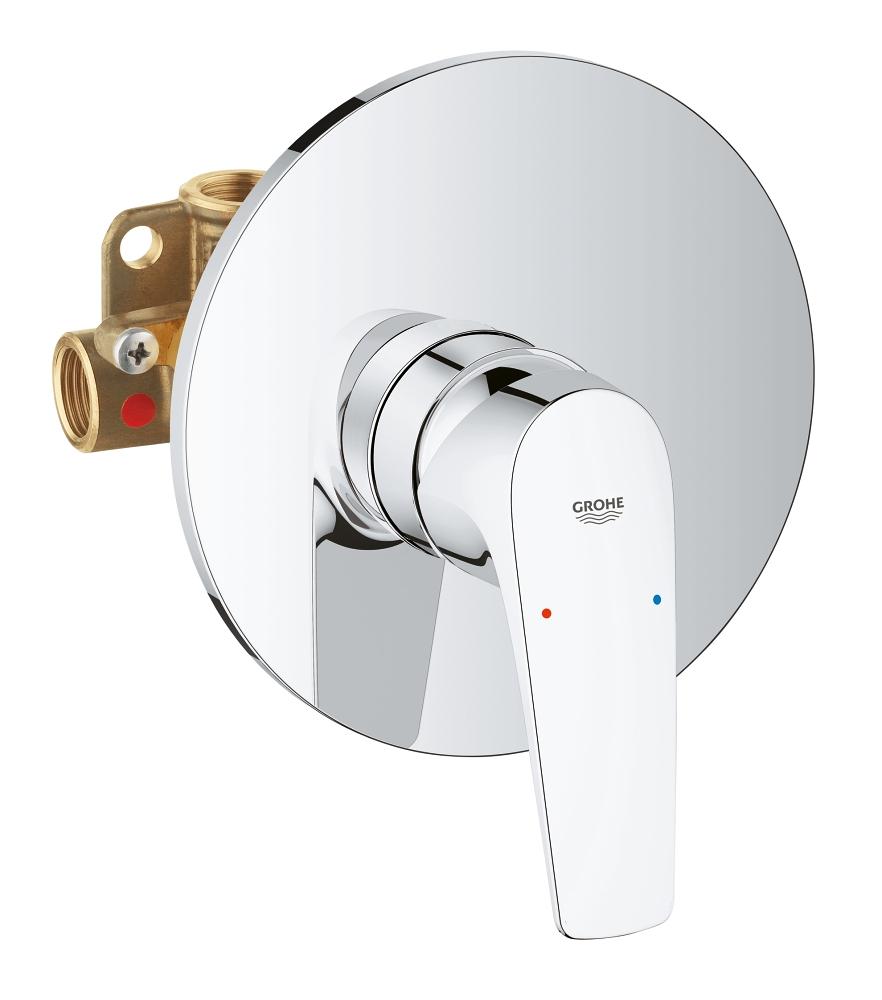 Baterie baie duş ingropata,1 iesire pentru dus Grohe BauFlow-29112000 imagine
