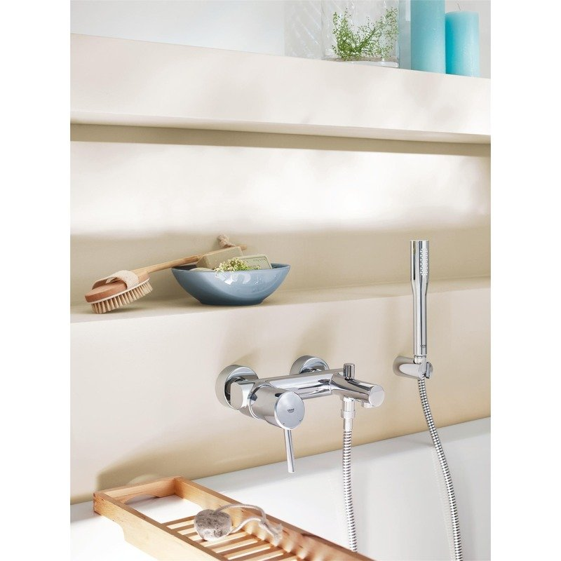 Baterie cada cu dus Grohe Concetto New Grohe-32212001 imagine 2021 baterii-lux.ro