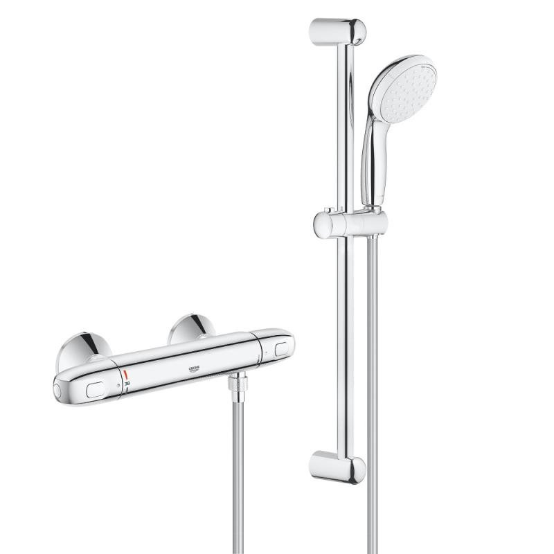 Baterie cabina de dus cu termostat Grohe Grohtherm 1000 New, set dus inclus-34151004 imagine
