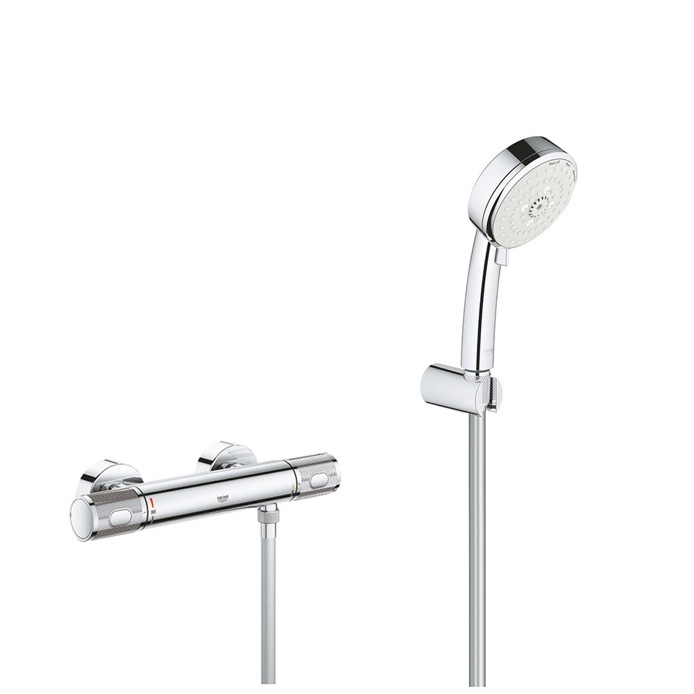Set Baterie cabina dus termostat Grohe Grohtherm 1000 Performance, set dus 3 tipuri jet,porter,Cosmo(3477600,27588002) imagine