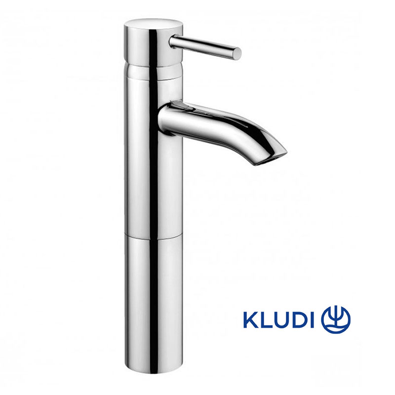 Baterie baie pentru lavoar, Kludi Bozz, montare blat, monocomanda, finisaj cromat-382960576 imagine