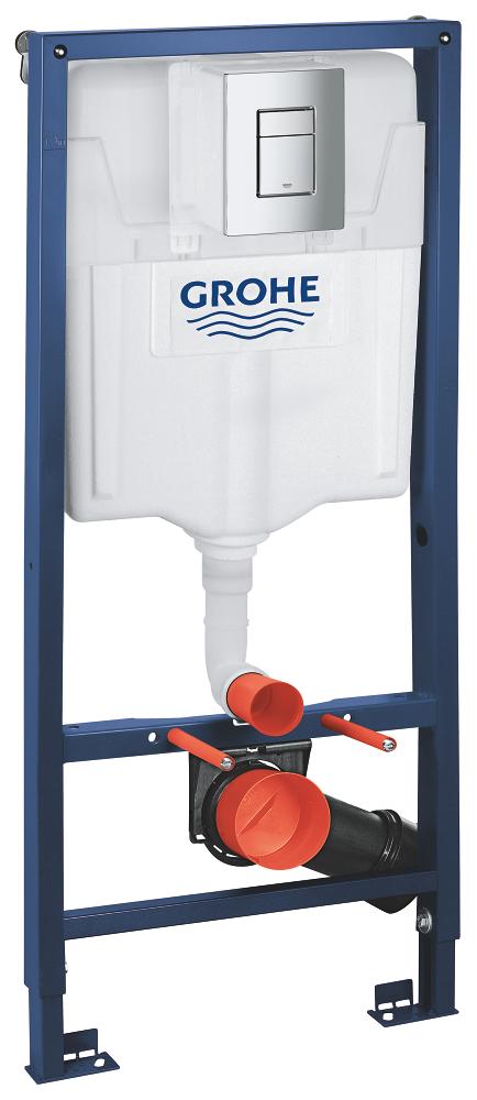 Rezervor wc Grohe Rapid SL set 3 in 1 placuta patrata-38772001 imagine