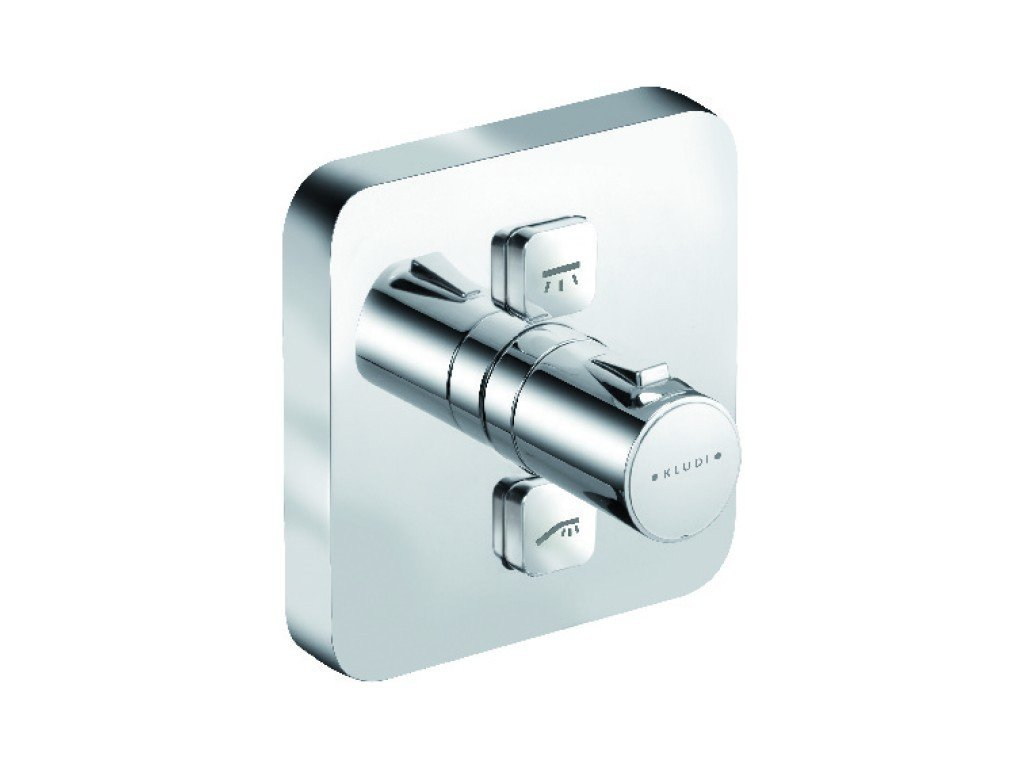 Baterie cada Kludi Push termostatata, montaj incastrat, fara corp ingropat - 388110538 imagine 2021 baterii-lux.ro