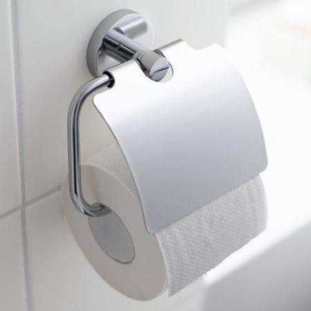 Suport hartie igienica Grohe Essentials cu capac protectie-40367001 imagine