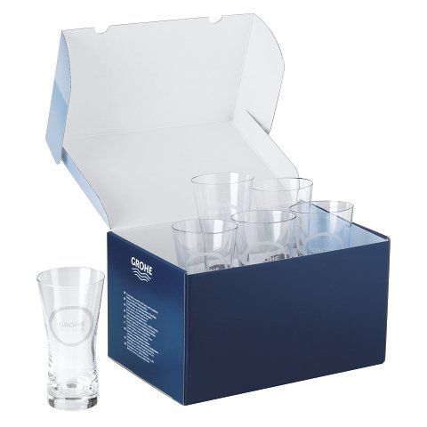 Set 6 pahare cristal Grohe Blue 250ml-40437000 imagine 2021 baterii-lux.ro