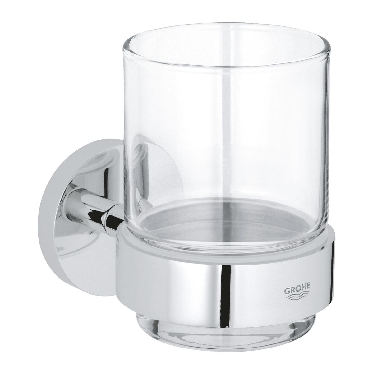 Pahar baie cu suport inclus Grohe Essentials-40447001 imagine