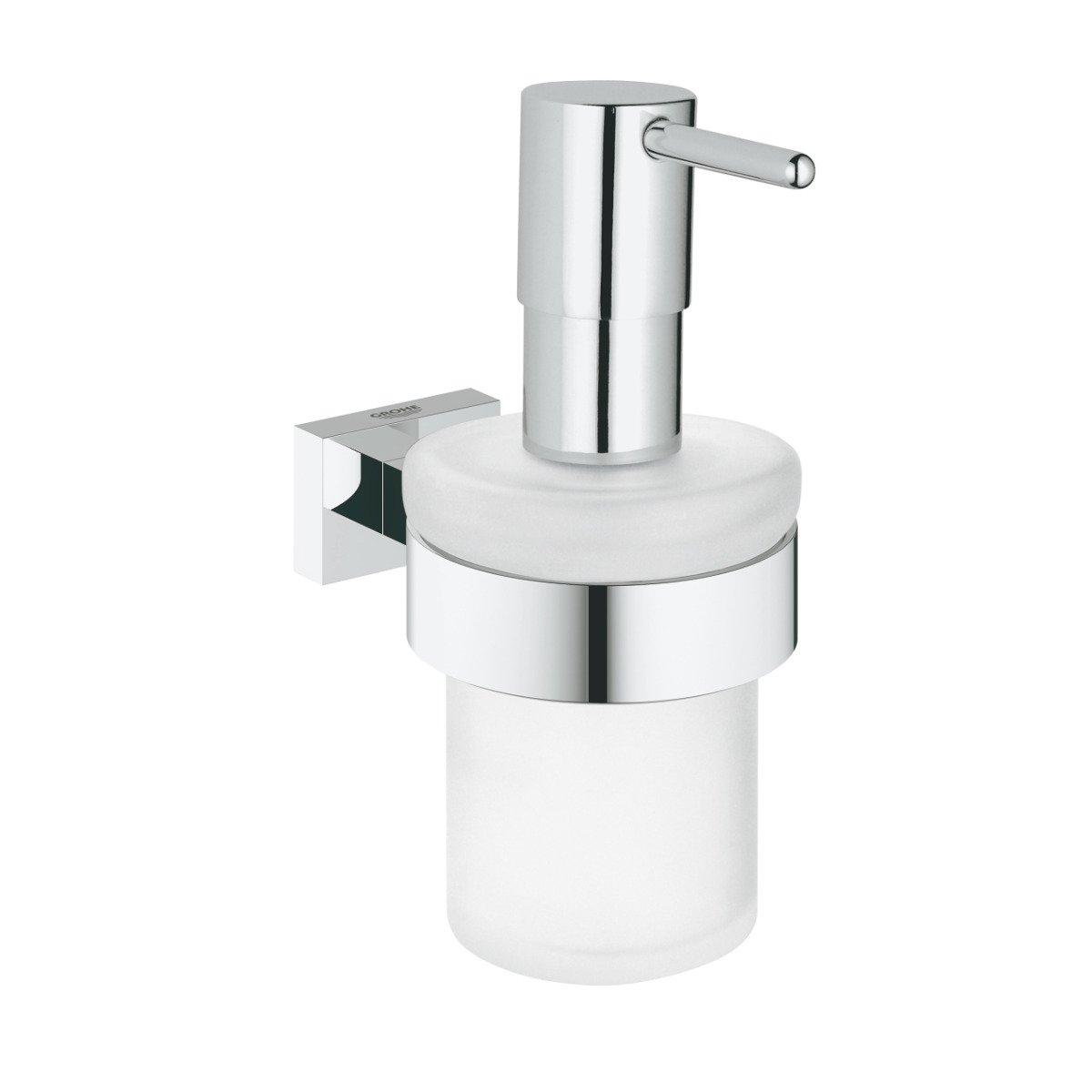 Dispenser sapun lichid Grohe Essentials Cube, cu suport, Crom-40756001 imagine