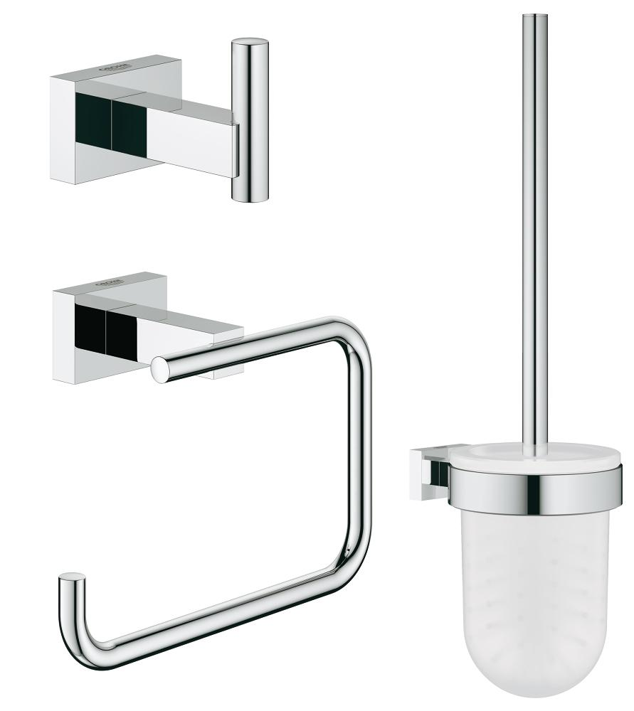 Set accesorii baie 3 in 1 Grohe Essentials Cube-40757001 imagine