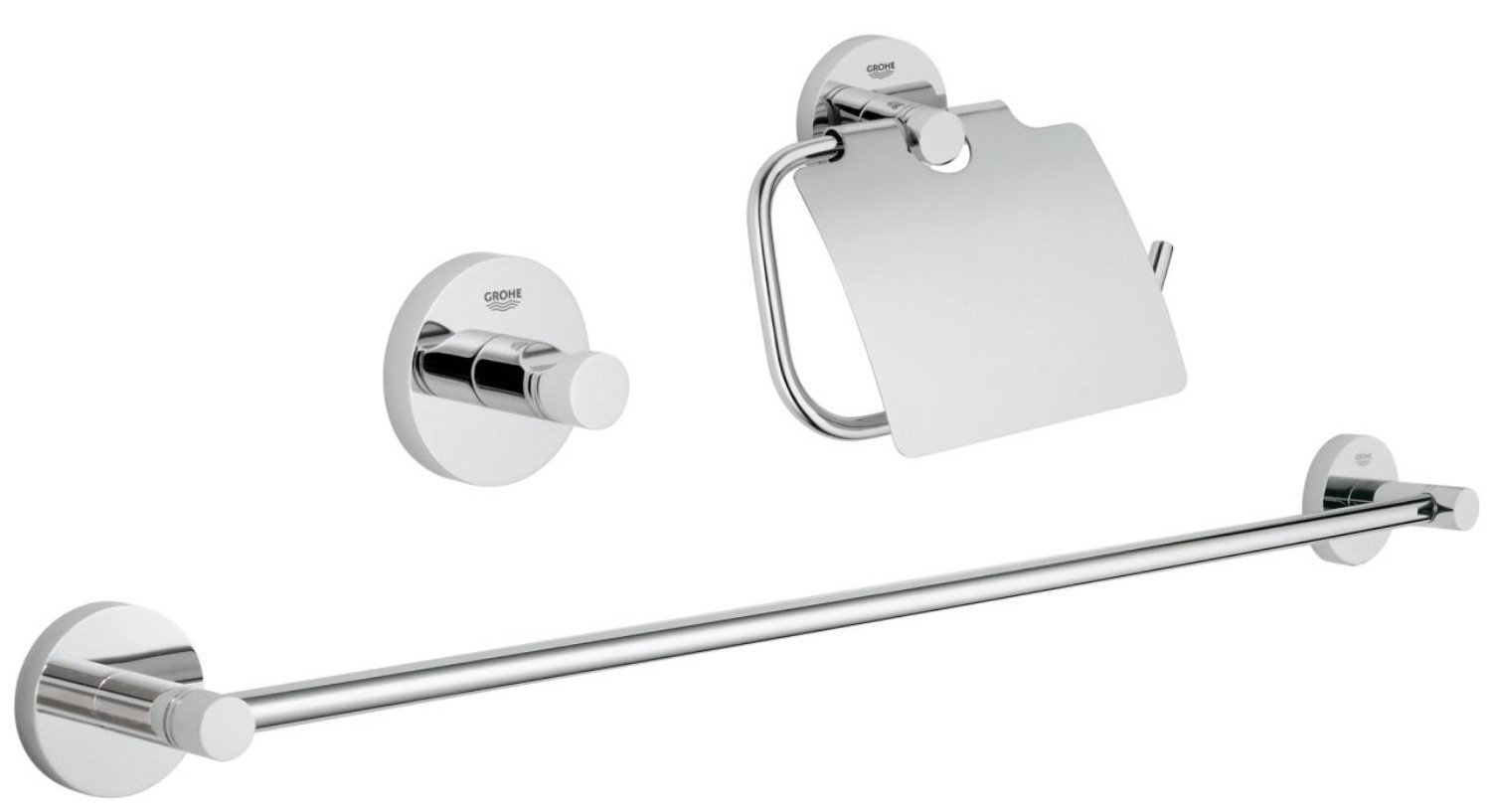 Set accesorii baie 3 in 1 Grohe Essentials-40775001 imagine
