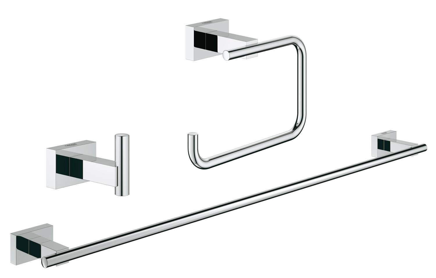 Set accesorii baie 3 in 1 Grohe Essentials Cube-40777001 imagine
