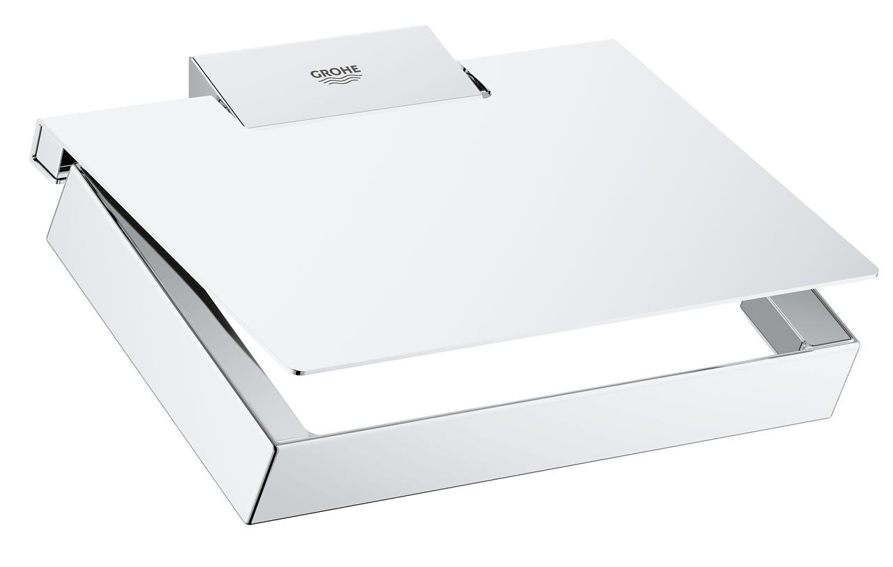 Suport hârtie igienică Grohe Selection Cube- 40781000 imagine 2021 baterii-lux.ro