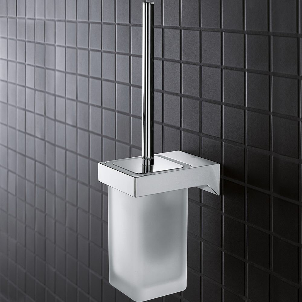 Set perie WC Grohe Selection Cube, montare pe perete-40857000 imagine 2021 baterii-lux.ro