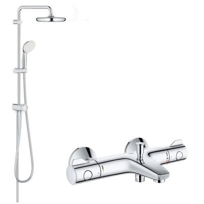 Sistem dus Grohe New Tempesta 210 +baterie cada termostat Grohtherm 800-baterii-lux.ro