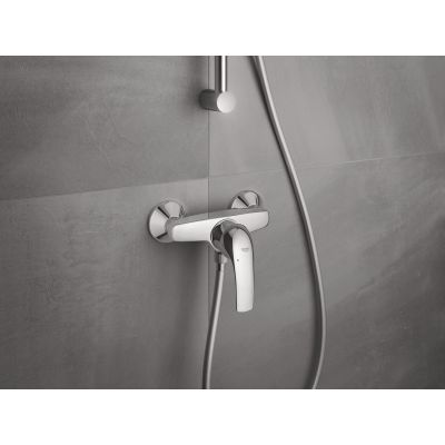 Baterie cabina dus Grohe Star Curve, montare pe perete, cartus 46 mm,crom-23767000