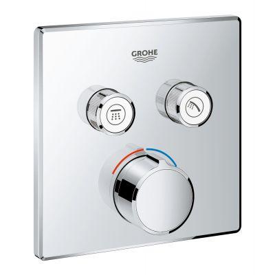 Baterie dus cu 2 iesiri, Grohe Smartcontrol, parte aparenta, patrat, fara termostat-29148000