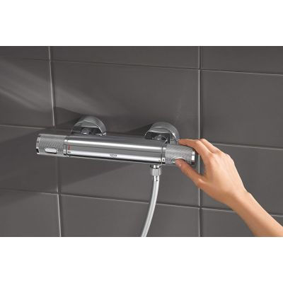 Baterie cabina dus termostat Grohe Precision Feel Performance ,crom,montare perete-34790000