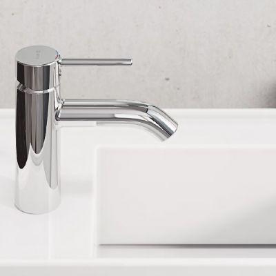 Baterie baie pentru lavoar, Kludi Bozz , monocomanda, finisaj cromat, ventil inclus-382700576