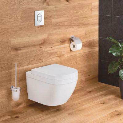 Vas wc Grohe Euro Ceramic Rimless Triple Vortex, montare suspendata,fara capac-39328000