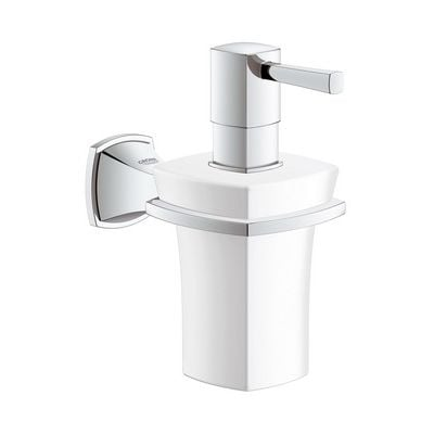Dozator de sapun ceramic cu suport Grohe Grandera cod-40627000
