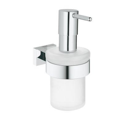 Dispenser sapun lichid Grohe Essentials Cube, cu suport, Crom-40756001