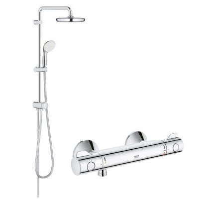 Sistem dus Grohe New Tempesta 180+baterie dus termostat Grohtherm 800-baterii-lux.ro ieftin