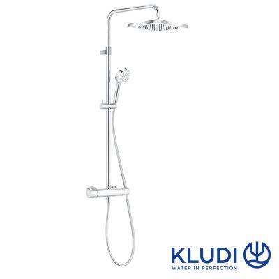 Coloana dus Kludi Logo 1S, termostat,inaltime reglabila, palarie patrata 25 cm-6809805-00