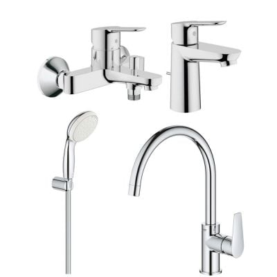Set baterii baie si bucatarie Grohe Bauedge porter cod-Gro122