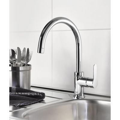 Baterie bucatarie pipa C Grohe Start Edge-31369000 Baterii-Lux.ro