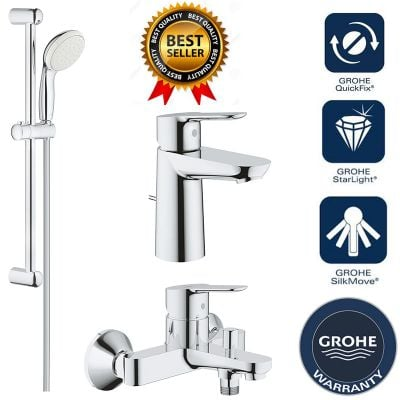 Pachet complet baterii baie 3 in 1 Grohe