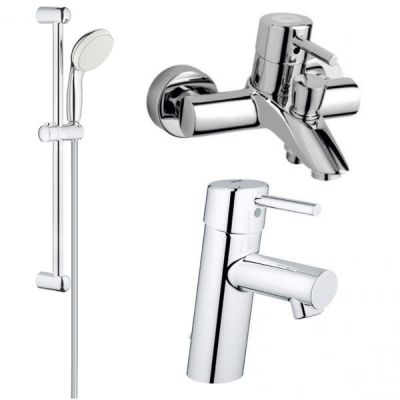 Pachet baterii 3 in 1 baterii cada Grohe Concetto set dus bara