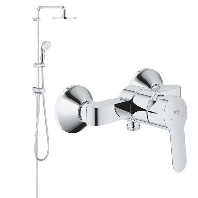 Pachet: Coloana dus Grohe New Tempesta 200,crom,baterie cabina dus BauEdge(27389002,23333000)