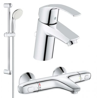 Set complet baterii baie cada cu termostat Grohe Grohtherm 1000-Gro127