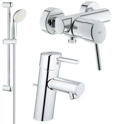Pachet baterii 3 in 1 baterii dus Grohe Concetto set dus bara-Baterii-Lux.ro