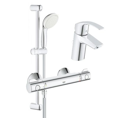 Set complet baterii baie dus cu termostat Grohe Grohtherm 800-Gro115