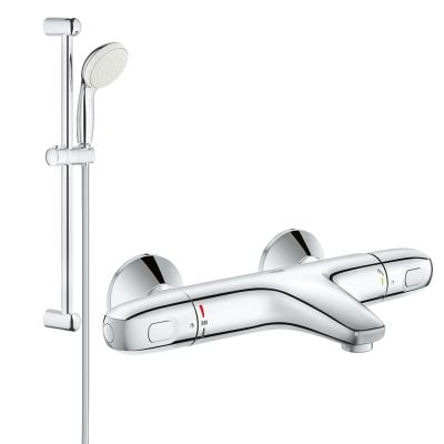 Pachet: Baterie Grohe cada/dus termostat Grohtherm 1000 + Set dus Grohe New Tempesta 100-(34155003,27853001)