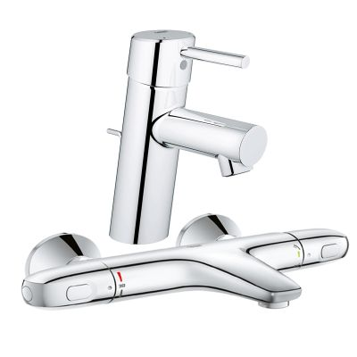Pachet: Baterie Grohe cada/dus termostat Grohtherm 1000-34155003 + Baterie lavoar Grohe Concetto New -32204001