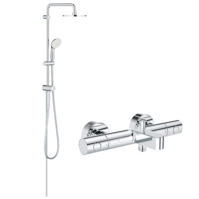 Pachet: Coloana dus Grohe 200, baterie cada/dus termostat Grohtherm 1000 Cosmo(27389002,34215002)