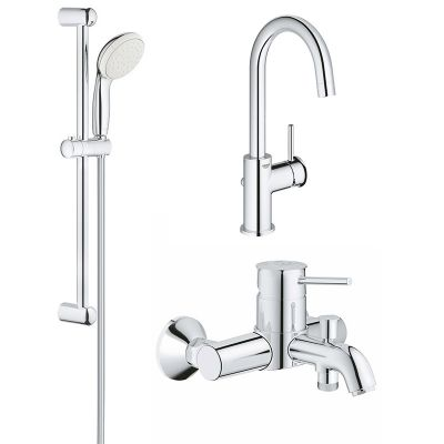 Set complet baterii baie 3 in1 Grohe Classic marimea L (23783000,23787000,27853001)