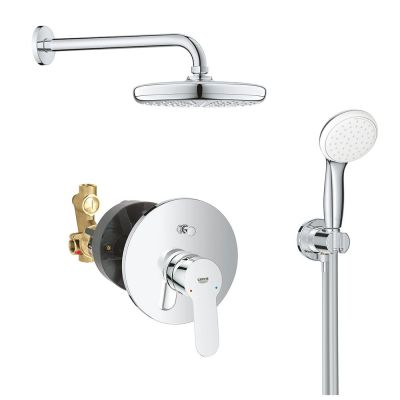 Sistem dus montaj incastrat Grohe Bauedge Perfect Shower 210 ,corp incastrat inclus