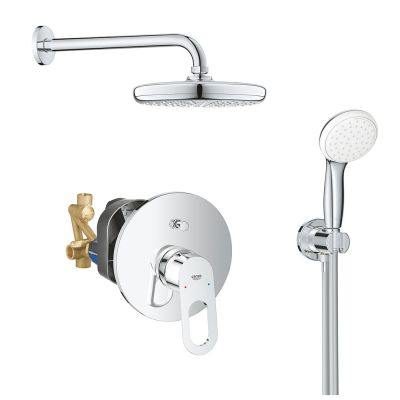 Sistem dus montaj incastrat Grohe Bauloop Perfect Shower,corp incastrat inclus