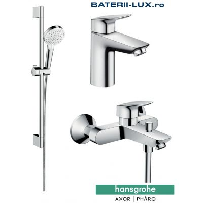 Set complet baterii baie cada Hansgrohe Logis1000-Hans003