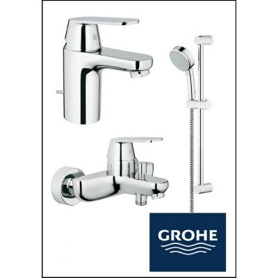 Set baterii baie Grohe Eurosmart Cosmo-SmartPack-Duo