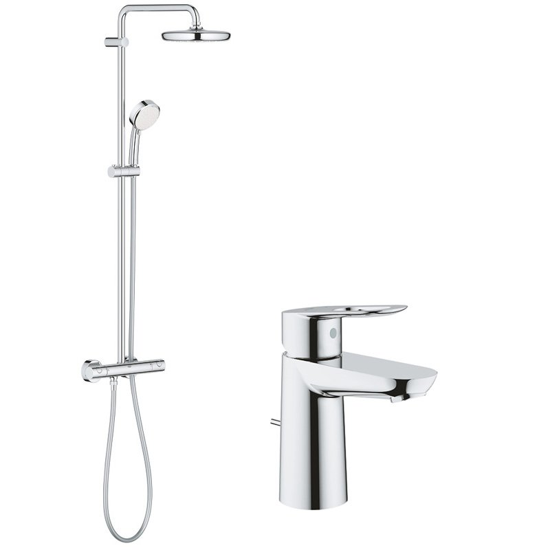 Pachet: Coloana dus Grohe New Tempesta 210-27922001, Baterie lavoar Grohe Bauloop S-23335000 imagine 2021 baterii-lux.ro