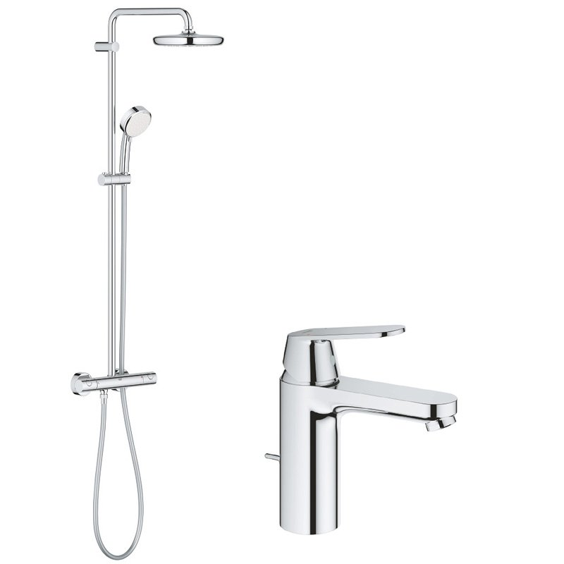 Pachet: Coloana dus Grohe New Tempesta 210-27922001, Baterie lavoar Grohe Eurosmart Cosmo M size-23325000 imagine 2021 baterii-lux.ro