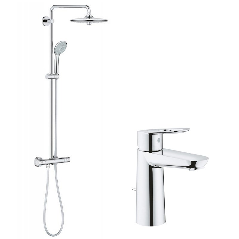 Pachet: Coloana dus Grohe Euphoria 260-27296002, Baterie lavoar Grohe Bauloop M-23762000 imagine 2021 baterii-lux.ro