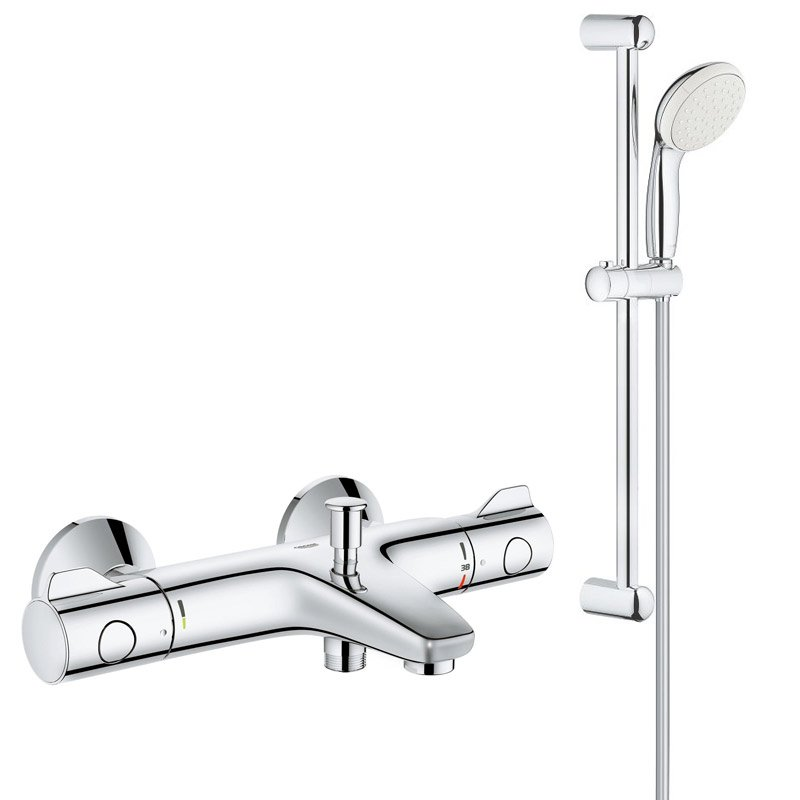 Pachet: Baterie cada Grohe Grohtherm 800-34567000, Set dus New Tempesta 100-27853001 imagine 2021 baterii-lux.ro