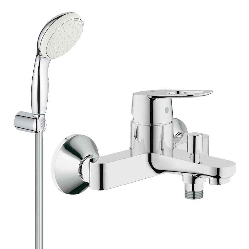 Pachet: Baterie baie cada Grohe Bauloop-23341000+Set dus Grohe New Tempesta 100 lungime 1,25m-27799001 imagine
