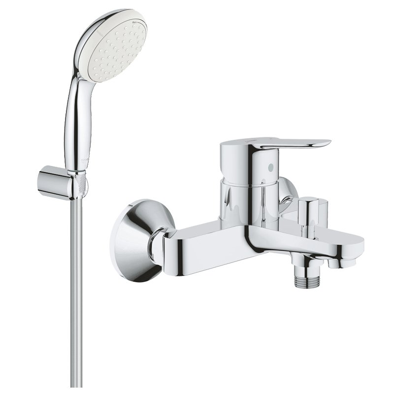 Pachet: Baterie cada/dus Grohe Bau Edge -23334000+Set dus Grohe New Tempesta 100-27799001 imagine