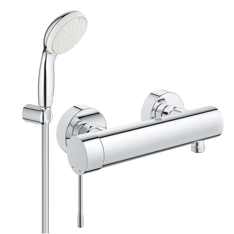 Pachet: Baterie de dus Grohe Essence New-33636001+ Set dus Grohe New Tempesta 100-27799001 imagine 2021 baterii-lux.ro